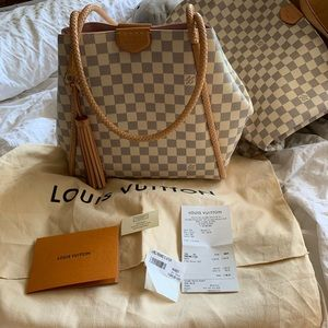 louis vuitton propriano damier azur handbag